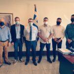 Συνάντηση στο Υπουργείο Προστασίας του Πολίτη είχαν ο Α. Καραδελής (Πρόεδρος), Π. Ανδριόπουλος (Αντιπρόεδρος) και Γ. Λαδιανός (Μέλος), με τον Διευθυντή του Υπουργού κ. Γεώργιο Σταμαδιάνο. Τη συνάντηση πλαισίωσαν ο Σύμβουλος του Υπουργού Χρήστος Αυτζόγλου και ο σύνδεσμος ΠΥ στο Υπουργείο Αντιπύραρχος κ. Κωνσταντίνος Βαρούνης.