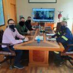 Συνάντηση εκ νέου με τον Αρχηγό του Πυροσβεστικού Σώματος Αντιστράτηγο κ.Στέφανο Κολοκούρη είχαν ο Αλέξανδρος Καραδελής (Πρόεδρος) , Αθανάσιος Ψαρόπουλος (Αντιπρόεδρος Β΄) και ο Ευάγγελος Τσουκαλάς (Γενικός Γραμματέας)